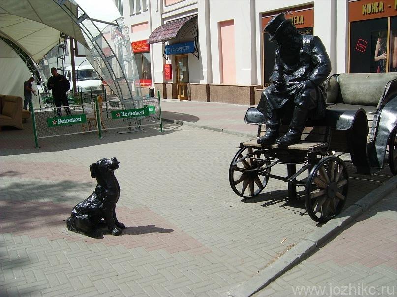 Скульптура извозчика, Кировка (Челябинский арбат)