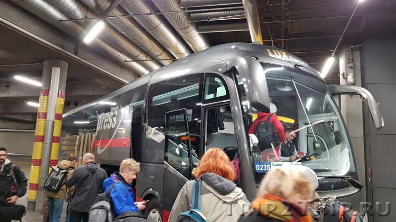 Автобус Lux Express, автовокзал Камппи, Хельсинки