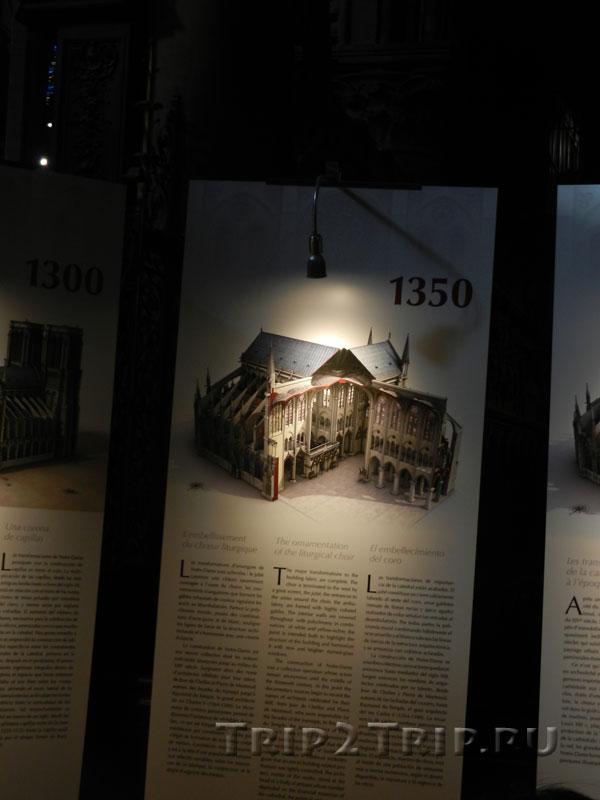 Реконструкция собора в 1350 году, Собор Парижской Богоматери