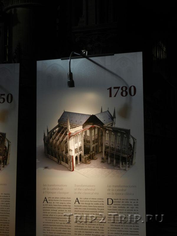 Реконструкция собора в 1780 году, Собор Парижской Богоматери
