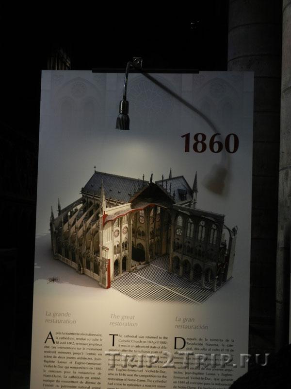 Реконструкция собора в 1860 году, Собор Парижской Богоматери