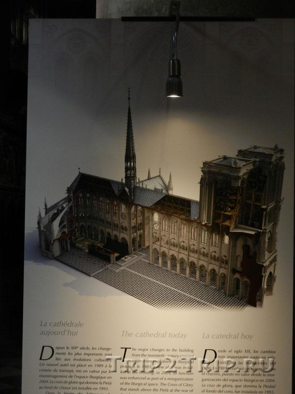 Реконструкция собора до пожара 2019 года, Собор Парижской Богоматери