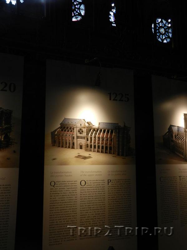 Реконструкция собора в 1225 году, Собор Парижской Богоматери