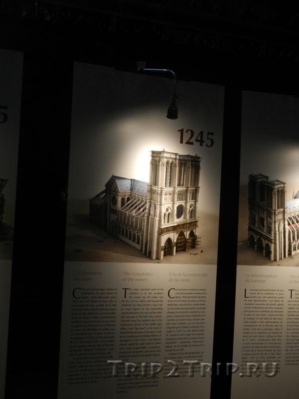 Реконструкция собора в 1245 году, Собор Парижской Богоматери