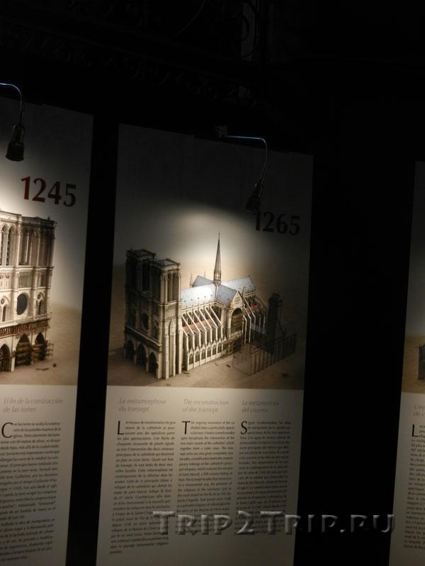 Реконструкция собора в 1265 году, Собор Парижской Богоматери