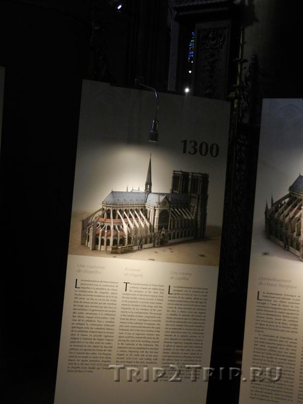 Реконструкция собора в 1300 году, Собор Парижской Богоматери
