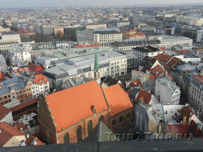 Рига с высоты птичьего полёта (обзорная площадка на церкви Святого Петра)