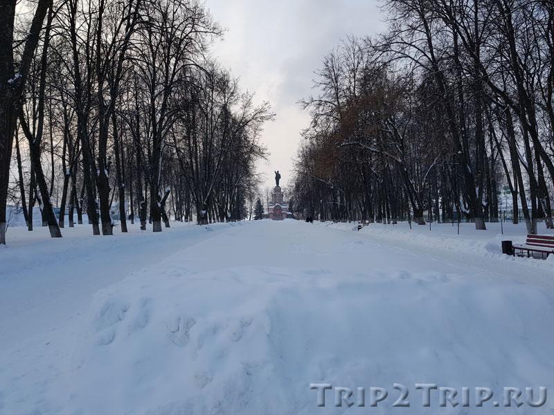 Главная аллея, Центральный парк, Кострома