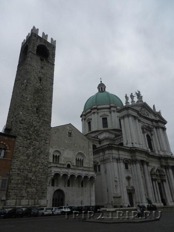 Башня Пеголь, S.Agostino и Новый дуомо, площадь Павла VI, Брешиа