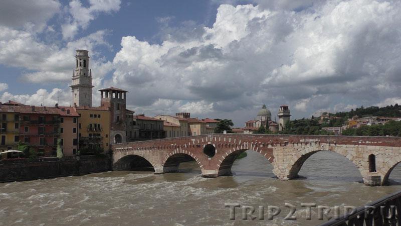 Понте Пьетра (Каменный мост), Верона