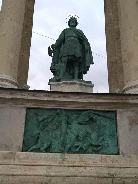 Святой Ласло, Памятник Тысячелетия, Будапешт