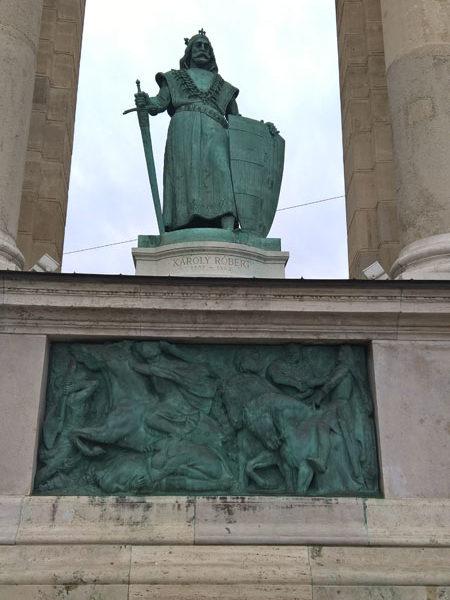 Карл Роберт, Памятник Тысячелетия, Будапешт