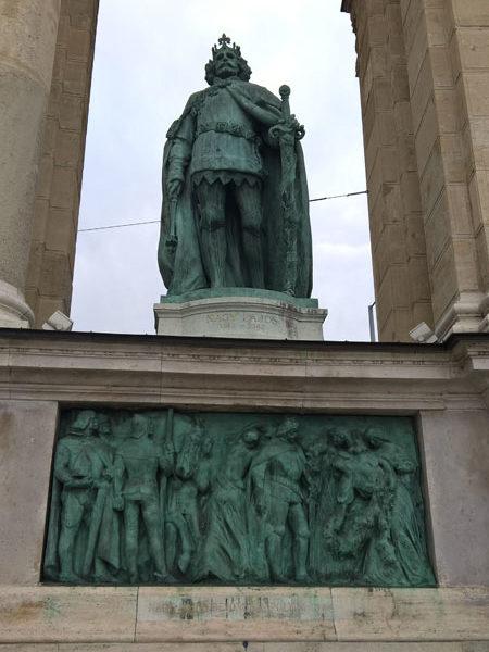Людовик I Великий, Памятник Тысячелетия, Будапешт