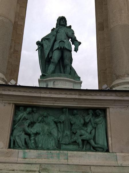 Матьяш Корвин, Памятник Тысячелетия, Будапешт