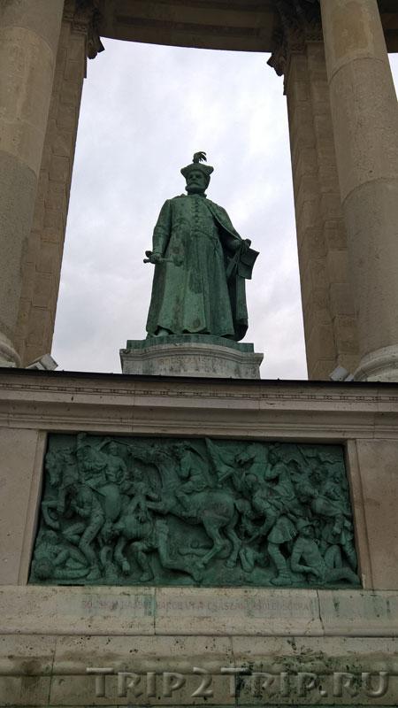 Иштван Бочкаи, Памятник Тысячелетия, Будапешт