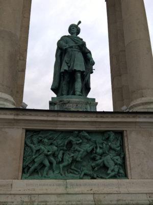 Имре Текели, Памятник Тысячелетия, Будапешт