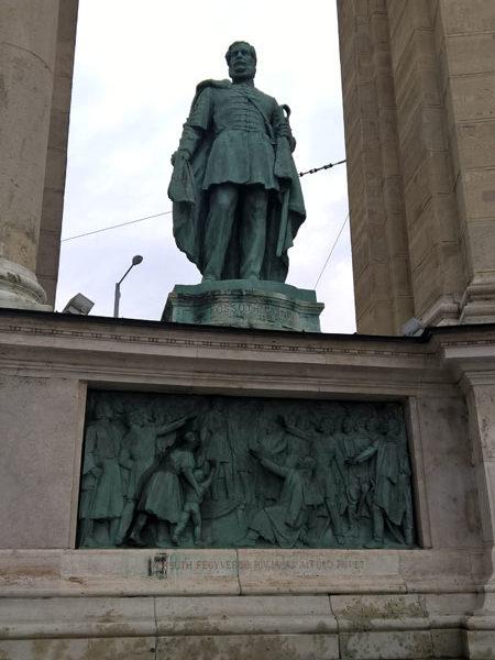 Лайош Кошут, Памятник Тысячелетия, Будапешт