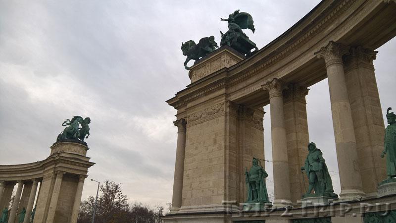 Памятник Тысячелетия Венгрии, Площадь Героев, Будапешт