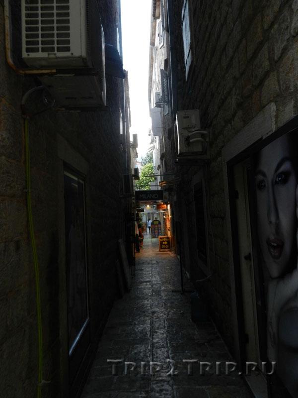 Атмосферные улочки Старой Будвы, Черногория