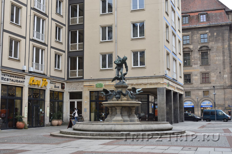 Похититель гусей, Белый переулок (Вайс гассе), Дрезден