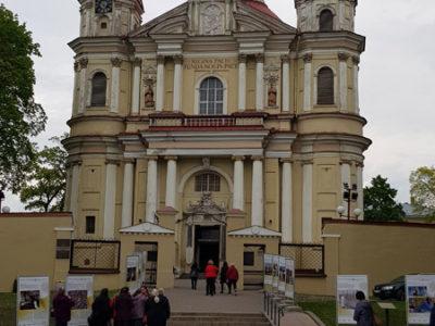 Фасад костёла Святых Петра и Павла, Вильнюс