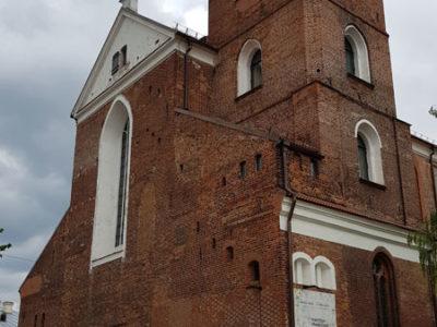 Фасад и колокольня собора Петра и Павла, улица Вильняус, Каунас