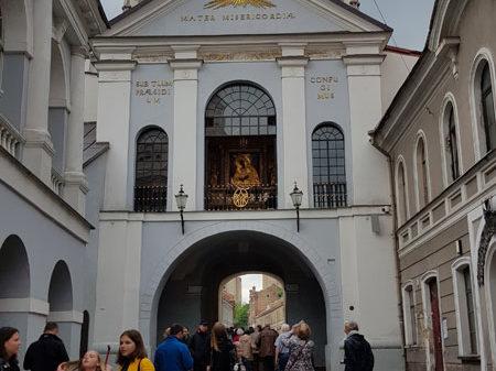 Ворота Зари (Острая Брама) с внутренней стороны, улица Зари, Вильнюс