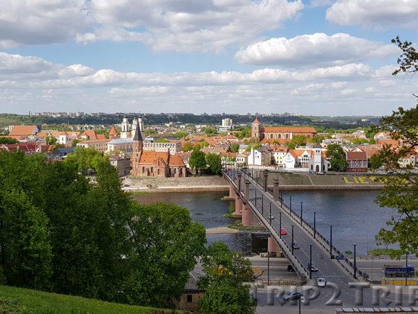 Мост Витовта Великого через Неман (вид с холма Алексотас), Каунас