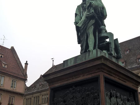 Памятник Гутенбергу, площадь Гутенберга, Страсбург
