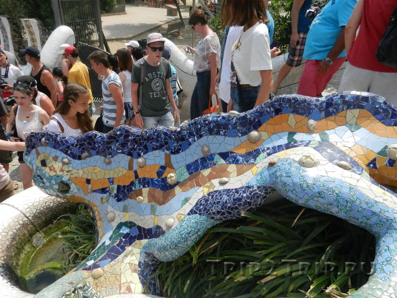 Мозаичная ящерица, парк Гуэль, Барселона
