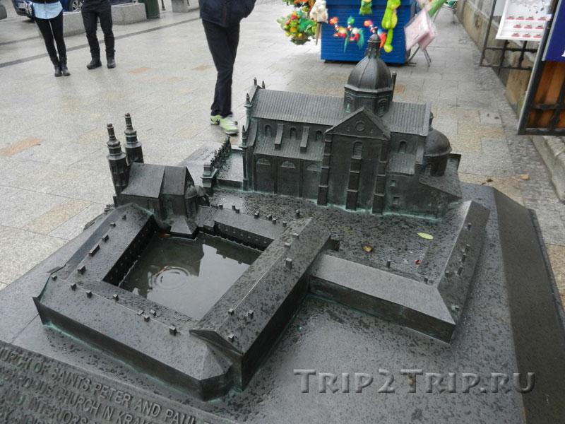 Площадь Святой Магдалены, Краков (макет)