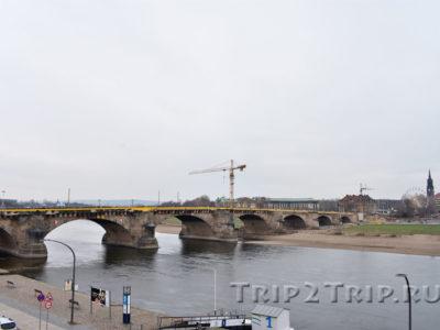 Мост Августа Сильного через Эльбу, Дрезден