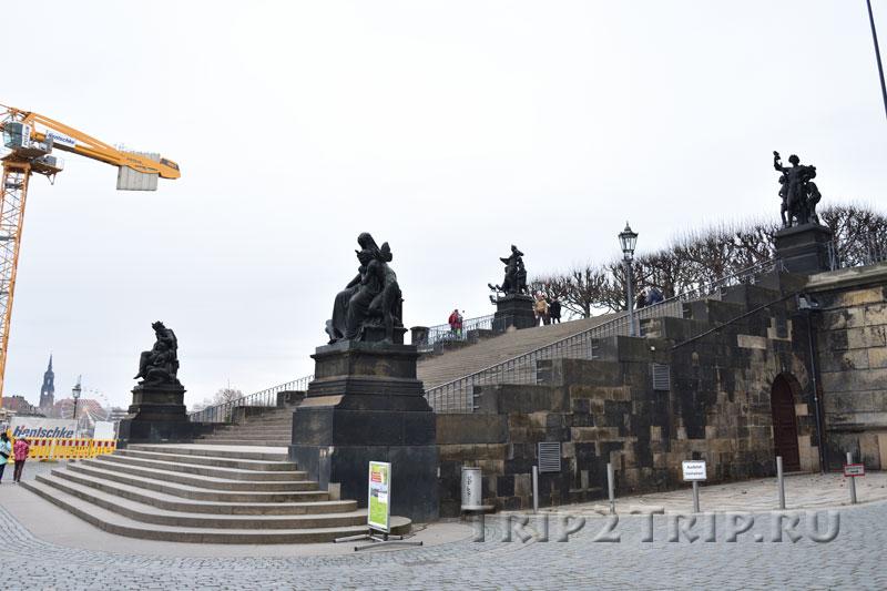 Лестница Тормейера, Терраса Брюля, Дрезден