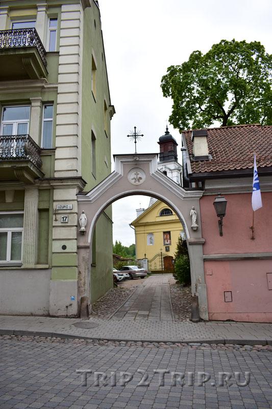 Ворота к костёлу Св. Варфоломея, улица Ужупио, Вильнюс