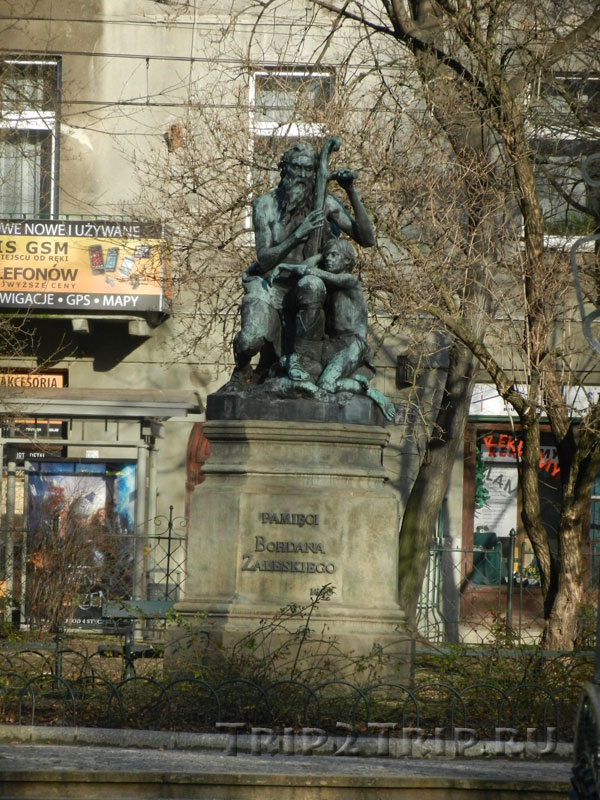 Памятник Богдану Залесскому, парк Планты, Краков