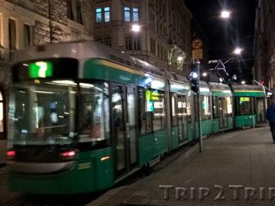 Трамвай на улице Алексантеринкату, Хельсинки
