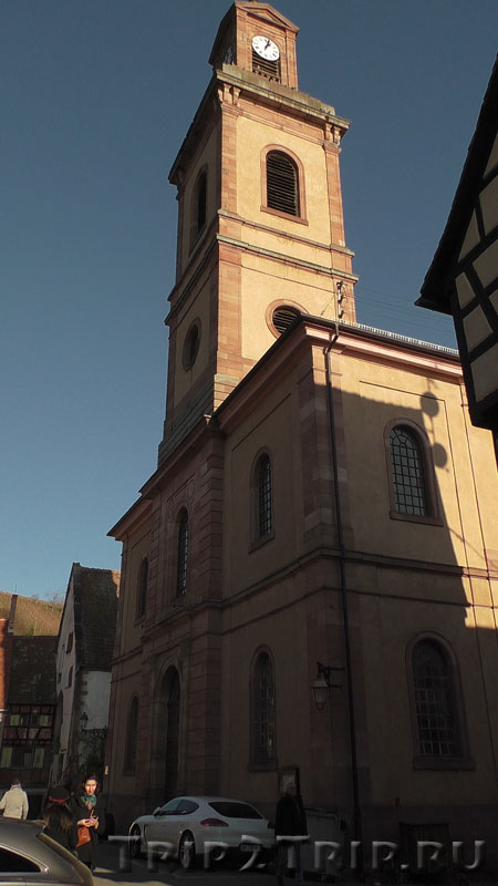 Протестанская церковь Святой Маргариты, улица Трёх Церквей, Риквир