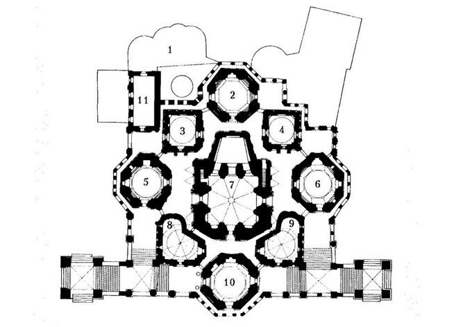 План собора Василия Блаженого, Красная площадь, Москва