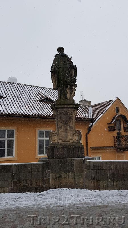 Св. Микулаш Толентийский, Карлов Мост, Прага. Одиннадцатая фигура слева
