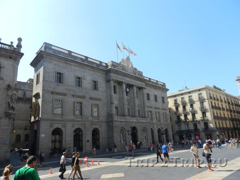 Аюнтамьенто Барселоны, площадь Сан-Жауме, Барселоны