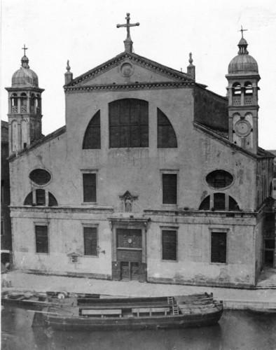 Церковь Санта-Лючии в 1861 году до сноса в 1861, Венеция (фото Бональди)
