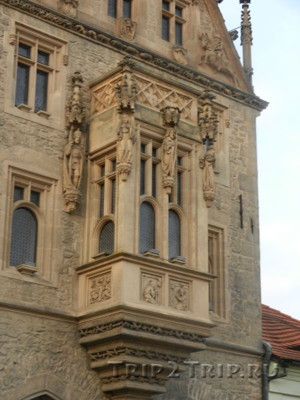 Балкон на фасаде, Каменный дом, Кутна-Гора