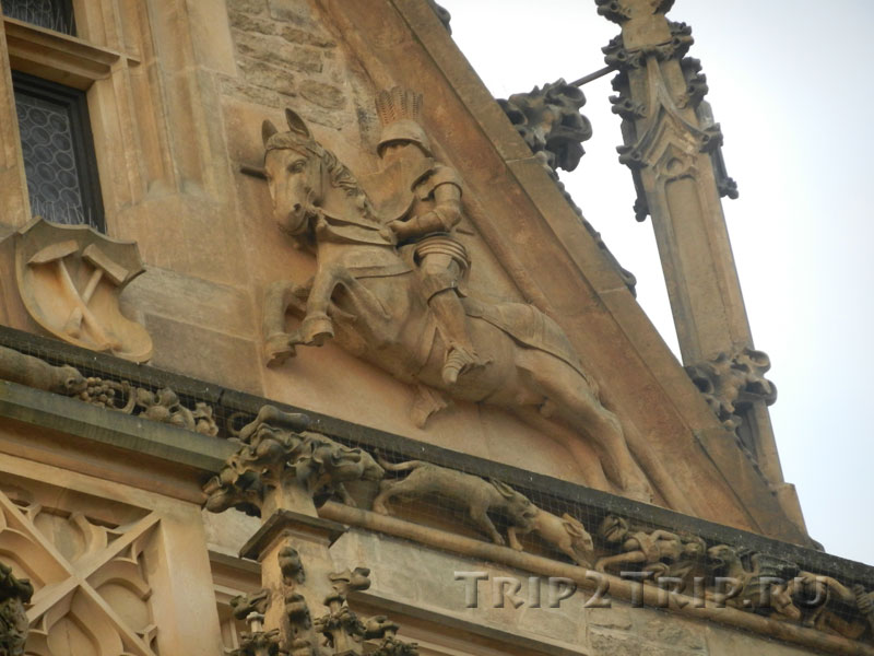 Рыцарь на щипце, Каменный дом, Кутна-Гора