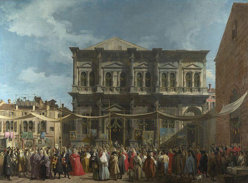 Скуола ди Сан-Рокко, картина Каналетто, 1735 г.