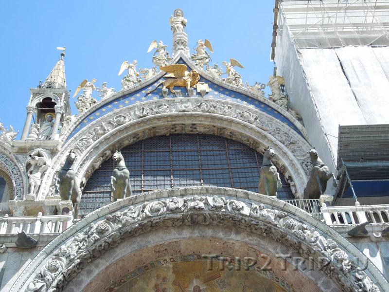 Центральная арка второго яруса, собор Сан-Марко, Венеция