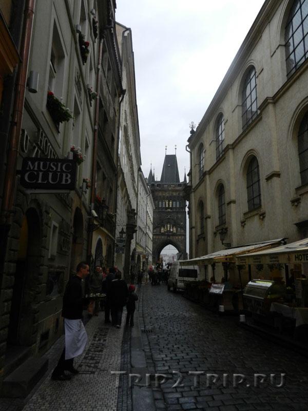 Окончание Карловой улицы и выход на площадь Крестоносцев, Прага