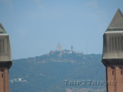 Гора Тибидабо, Барселона (вид от площади Испании)