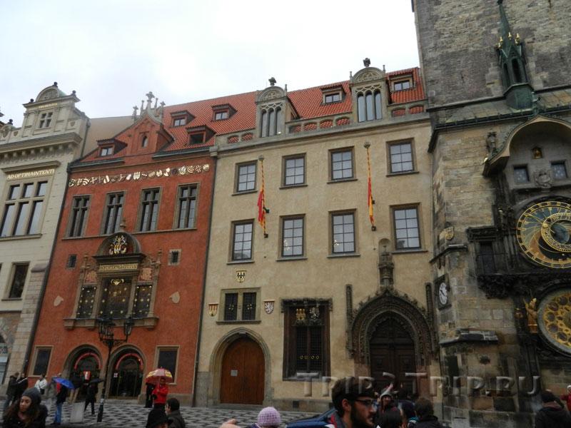 Новое здание Староместской ратуши и дом Волфлина, Староместская площадь, Прага