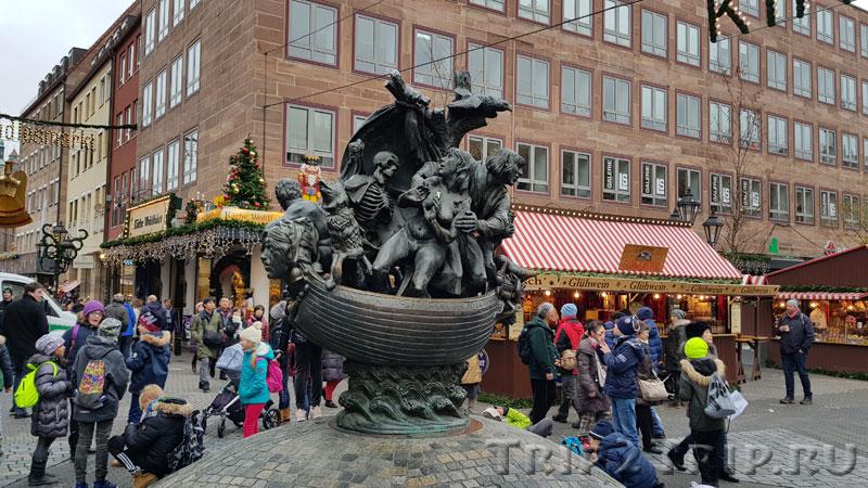 "Скульптура ""Корабль дураков"", Шпитальгассе, Нюрнберг"