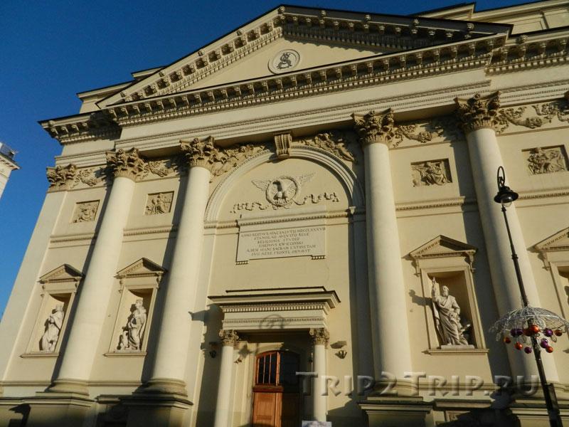 Фасад костёла Святой Анны, Краковское Предместье, Варшава